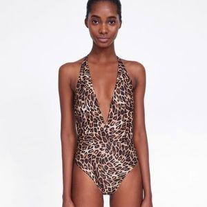 NWOT Zara leopard swimsuit